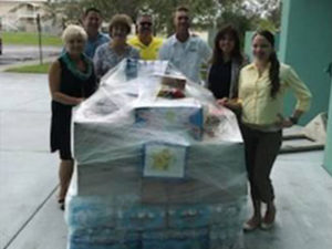 CCTC staff and students organized a food and water drive