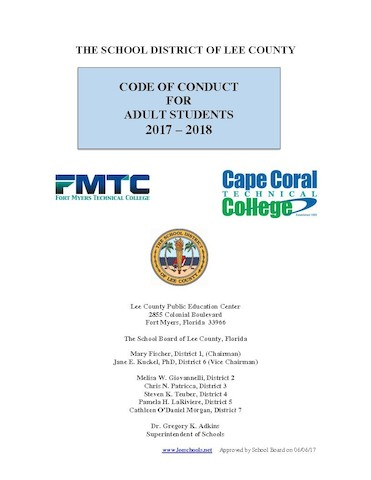 Adult student code of conduct