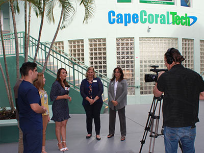 CCTC Students Interviewed by Telemundo news
